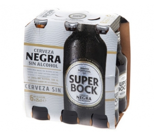 CERVEZA NEGRA S/ALCOHOL SUPER BOCK BOT.6X330 ML.