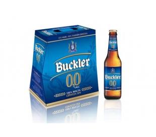 CERVEZA 0% SIN ALCOHOL BUCKLER BOT. 6X250 ML.