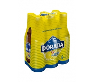CERVEZA LIMON SIN ALCOHOL DORADA PACK 6X250 ML.