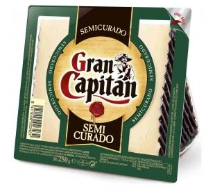 QUESO SEMICURADO CUÑA GRAN CAPITAN 250 GRS.