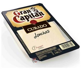 QUESO CURADO BANDEJA GRAN CAPITAN 140 GRS.