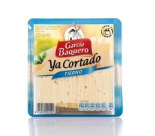QUESO TIERNO YA CORTADO GARCIA BAQUERO 250 GRS.