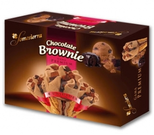 HELADO CONO CHOC. BROWNIE SOMOSIERRA PACK 4X120 ML.