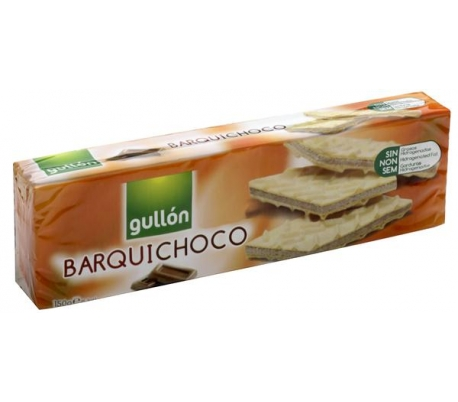 GALLETAS BARQUILLO CHOCOLATE GULLON 150 GR.