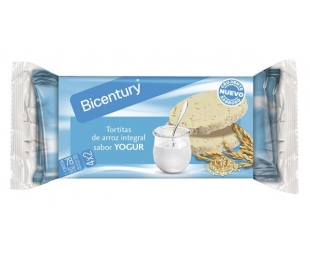 TORTITAS ARROZ INT.YOGUR BICENTURY 130 GR.