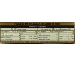 FILETES DE CABALLA ACEITE OLIVA ALBO 120 GR.