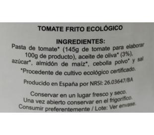 TOMATE FRITO BIO, CRISTAL DOÑATURA 420 GRS.