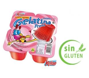 GELATINA FRESA KALISE PACK 4X100 GRS.