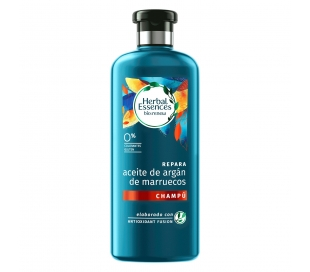 CHAMPU REPARA,ACEITE ARGAN,BIO RENEW HERBAL ESSENCES 400 ML.