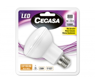BOMBILLO LED R80 10W.E27 CALIDA CEGASA 1U