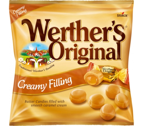 CARAMELOS MANTEQUILLA Y NATA WERTHERS 135 GRS.