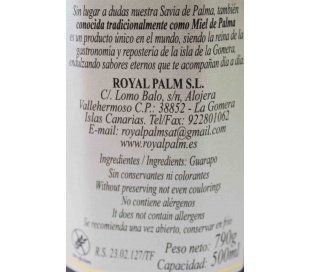 MIEL DE PALMA ROYAL PALM 500 ML.