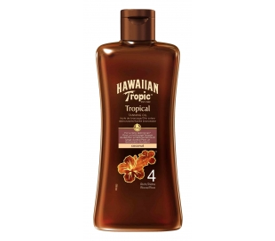ACEITE SOLAR TROPICAL T.SPF 4 HAWAIIAN TRO 200 ML.