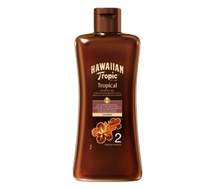 ACEITE SOLAR TROPICAL TA.SPF 2 HAWAIIAN TRO 200 ML.