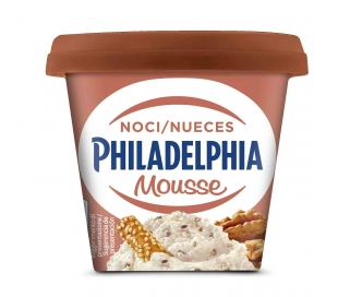 QUESO DE UNTAR MOUSSE NUECES PHILADELPHIA 130 GRS.