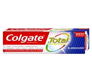 PASTA DENTAL MAS BLANQUEADOR TOTAL COLGATE 75 ML.