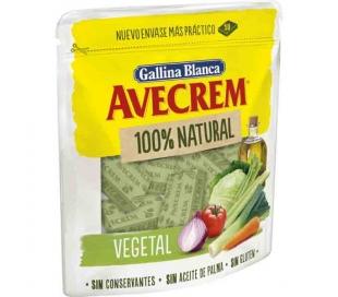 CALDO AVECREM VEGETAL,100% NATURAL GALLINA BLANCA PASTILLAS 10X9,7 GRS.
