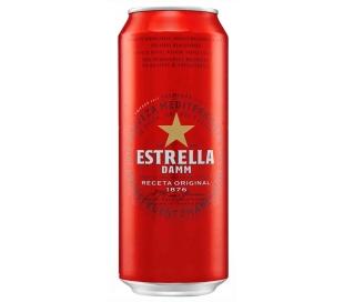 CERVEZA RECETA ORIGINAL ESTRELLA DAMM LATA 50 CL.
