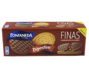 GALLETAS DIGESTIVE FINAS CHOCOLATE CON LECHE FONTANEDA 170 GRS.
