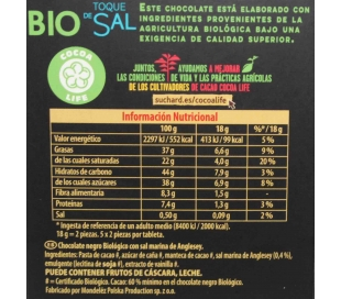 CHOCOLATE BIO TOQUE DE SAL SUCHARD 90 GRS.