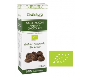 GALLETA BIO AVENA Y CHOCOLATE DOÑATURA 125 GRS.