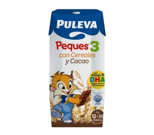 LECHE PEQUES-3 CEREALES Y CACAO PULEVA PACK 3X200 ML.