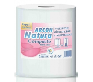 ROLLOS DE COCINA MULTIUSO ARCON NATURA 1 ROLLO JUMBO
