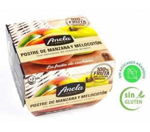 POSTRE DE FRUTAS MANZANA MELOC.100% ANELA PACK 2X100 GR.
