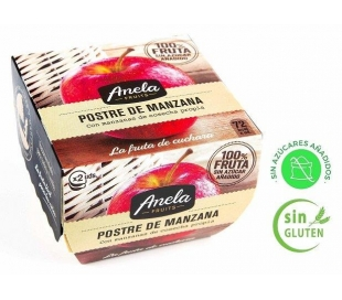 POSTRE DE FRUTAS MANZANA 100% ANELA PACK 2X100 GR.