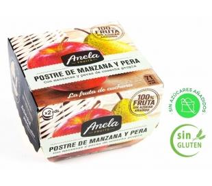 POSTRE DE FRUTAS PERA MANZ. 100% ANELA PACK 2X100 GR.
