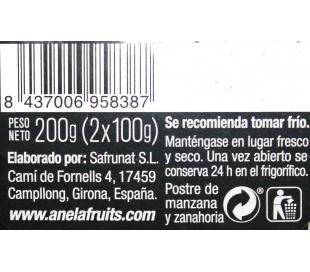 POSTRE DE FRUTAS MANZANA ZANAH.100% ANELA PACK 2X100 GR.