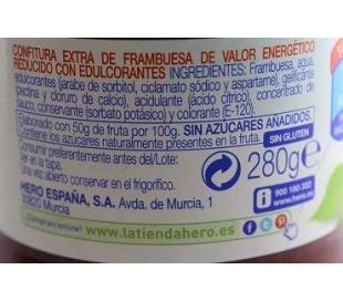 CONFITURA FRAMBUESA DIET HERO 280 GR.