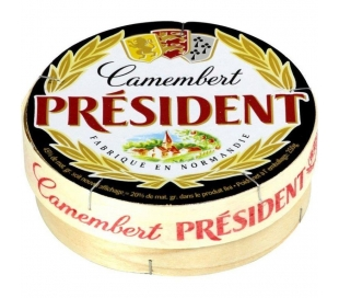 QUESO CAMEMBERT PORCIONES PRESIDENT 250 GRS.