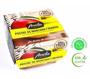 POSTRE DE FRUTAS MANZ.MANGO 100% ANELA PACK 2X100 GR.