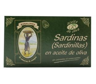 SARDINILLAS ACEITE OLIVA ROSALINDA 90 GR.
