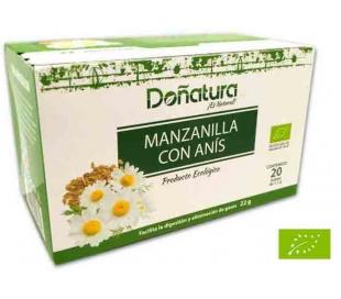 INFUSIONES MANZANILLA CON ANIS BIO DOÑATURA 20 SOBRES
