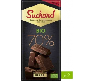 CHOCOLATE BIO 70% NEGRO SUCHARD 150 GRS.