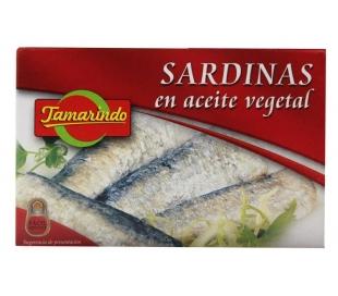 SARDINAS ACEITE VEGETAL TAMARINDO 125 GR.