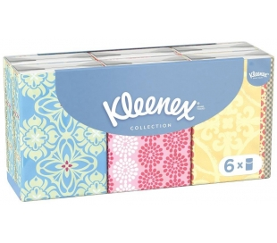 PAÑUELOS MINI COLLECTION KLEENEX 6 UN.