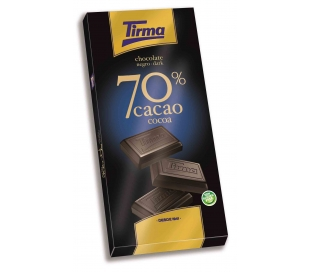 CHOCOLATE 70% CACAO TIRMA 70 GR.