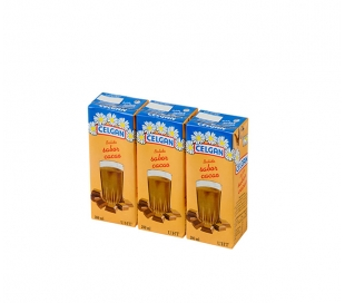 BATIDOS DE LECHE CHOCOLATE CELGAN PACK 3X200 ML.