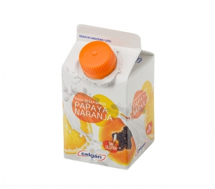 YOGUR LIQUIDO PAPAYA-NARANJA CELGAN 235 ML.