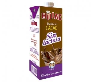 BATIDOS DE LECHE CACAO SIN LACTOSA MILLAC PACK 3X200 ML.