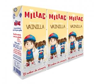 BATIDOS DE LECHE VAINILLA MILLAC PACK 3X200 ML.