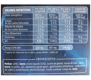 MERLUZA FILETE AL HUEVO PESCANOVA 400 GR.