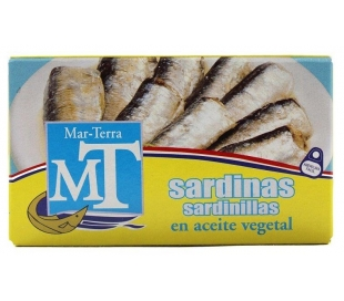 SARDINAS ACEITE VEGETAL MAR TERRA 57 GR.