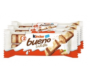 BARQUILLO RELLENO BUENO CHOCO Y WHITE KINDER PACK 3X39 GRS.