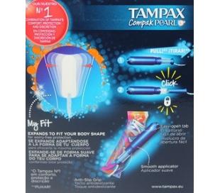 TAMPAX COMPAK PEARL,SUPER PLUS TAMPAX 16 UDS.