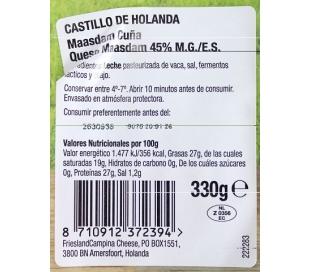 QUESO PLATO CUÑA EL CASTILLO 330 GRS.