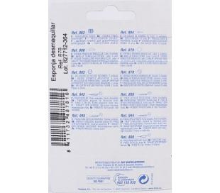 ESPONJA DESMAQUILLAR, REF.487816 FUSSY BEAUTY CARE 3 UDS.
